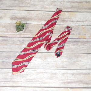 Hugo Boss Red 100% Silk Tie Made in Italy